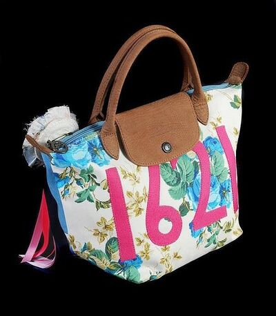"Tracey Emin, 'TRACEY EMIN X LONGCHAMP ""ALWAYS ME"" LE PLIAGE BAG WITH ROSETTE LTD EDITION', 2004"