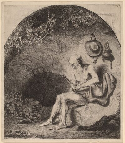 Ferdinand Bol, 'Saint Jerome in the Cave', 1644