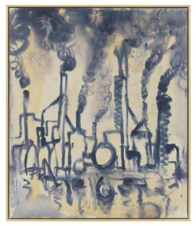 Andrej Dubravsky, 'Little blue factory on the river', 2019