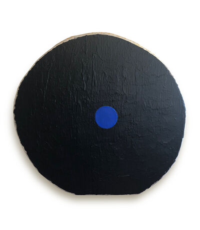 Otis Jones, 'Black with Blue Circle', 2018