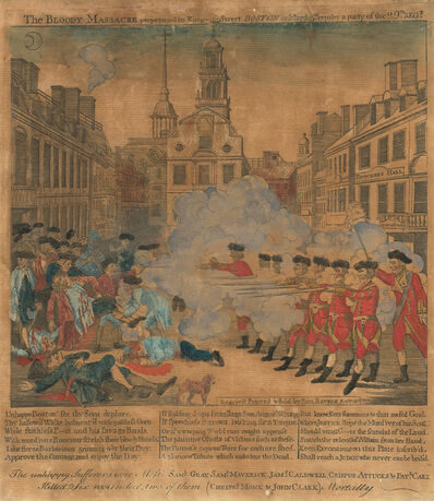Paul Revere, 'The Boston Massacre'