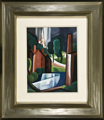 Oscar Bluemner, 'New Hampshire Town', 1931