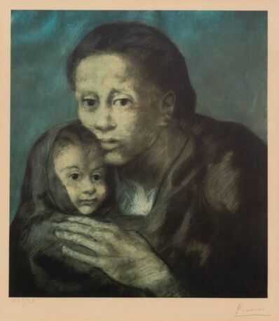 After Pablo Picasso, 'Mere et enfant au fichu (Mother and Child with Shawl) (from the Barcelona Suite)', 1966