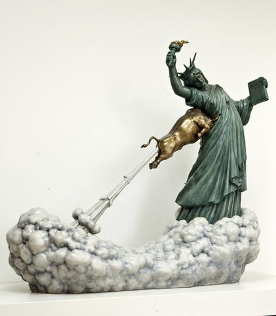Chen Wenling, 'Statue of Liberty and the Golden Bull', 2009