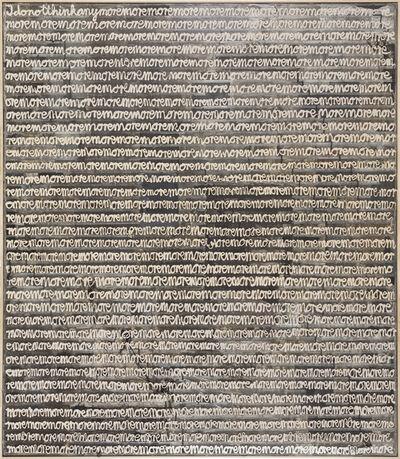 Stefan Vogel, 'I Do Not Think Anymormormor', 2017