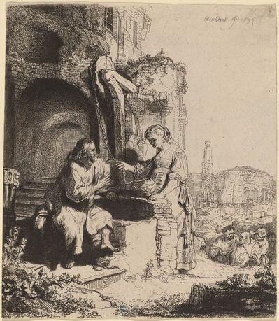 Rembrandt van Rijn, 'Christ and the Woman of Samaria Among Ruins', 1634