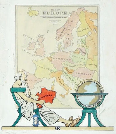 Guernsey Moore, 'Map of Europe', 20th Century