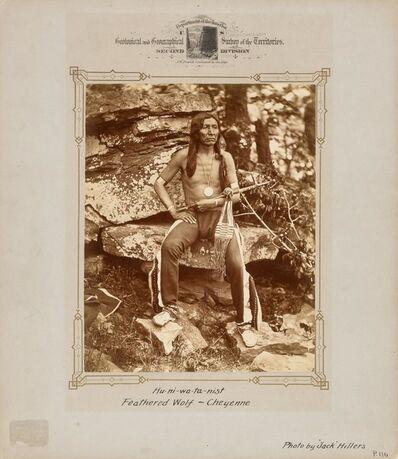 John K. Hillers, 'Hu-ni-wa-ta-nist Feathered Wolf-Cheyenne', 1880s