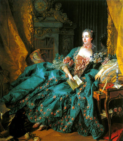 François Boucher, 'Portrait of Madame de Pompadour', 1756
