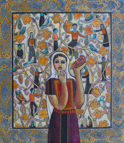 Nabil Anani, 'Woman with Grapes', 2018
