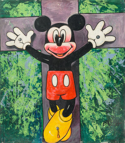 Ron English, 'Untitled (The Crucifiction of Mickey)'