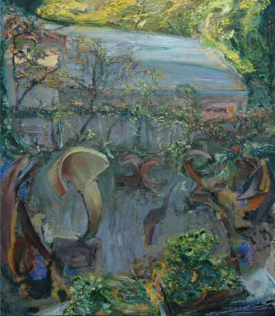 Johannes Heisig, 'Der Hof des Stahlplastikers', 2015