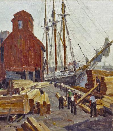 James J. Grant, 'Unloading Lumber, Gloucester Harbor'