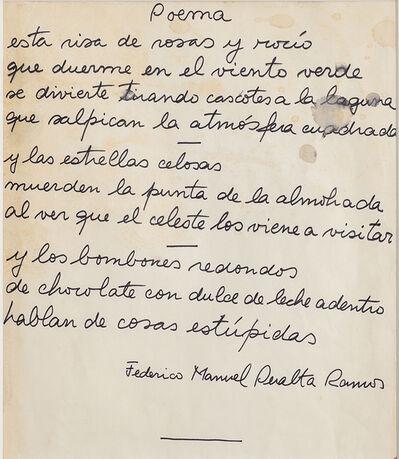 Federico Manuel Peralta Ramos, 'Poema (dedicado a Marta Minujin)', ca. 1967