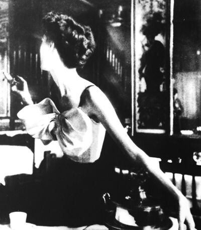 Lillian Bassman, 'Across the Restaurant: Barbara Mullen in a Dress by Jacques Fath at Le Grand Vefour, Paris, Harper's Bazaar, Paris, April', 1949
