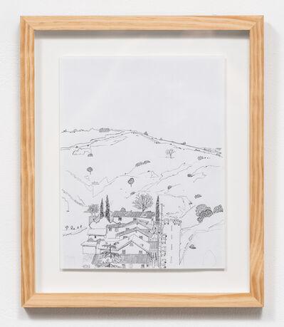 Manuel López, 'Casitas acurrucaditas entre los cerros (El Sereno landscape)', 2019