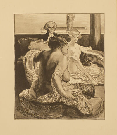 Franz von Bayros, 'Phryne un Mutter (Phryne and mother)', 1914