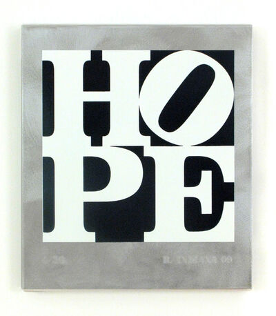 Robert Indiana, 'HOPE Black and White', 2009