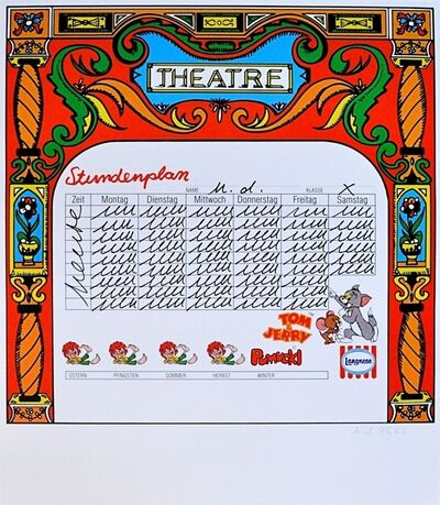 Hanne Darboven, 'Theatre', 1980-1990