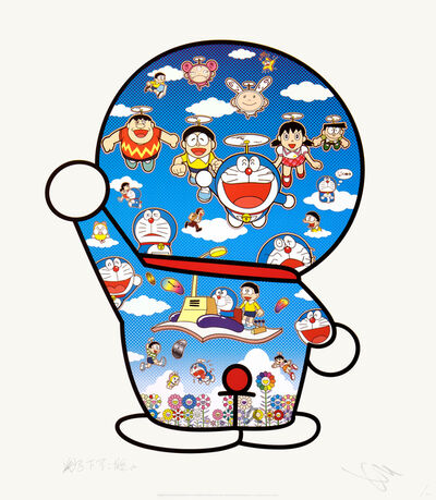 Takashi Murakami, 'Doraemon and Friends Under the Blue Sky', 2020