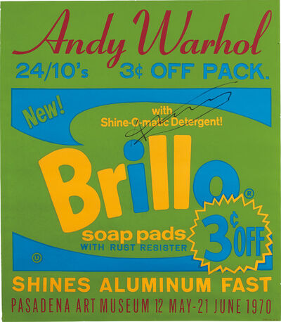 Andy Warhol, 'Exhibition poster for Andy Warhol: Pasadena Art Museum - Brillo', 1970
