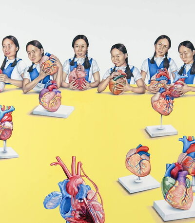 Su-en Wong, 'DH-9 Girls and Hearts', 2009