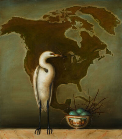 David Kroll, 'Egret and Bowl', 2005