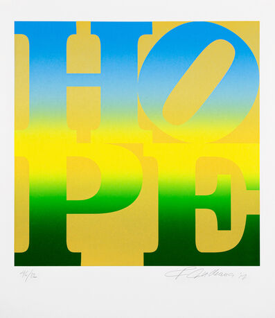 Robert Indiana, 'Four Seasons of Hope: A Classic Suite of Interpretive Silkscreen Prints - Gold 46/82', 2012