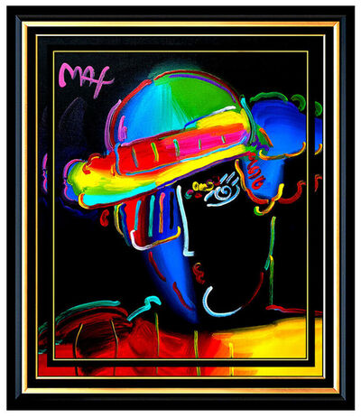 Peter Max, 'PETER MAX Original Acrylic PAINTING on CANVAS ZERO MAN Pop Art Profile SIGNED', 21st Century
