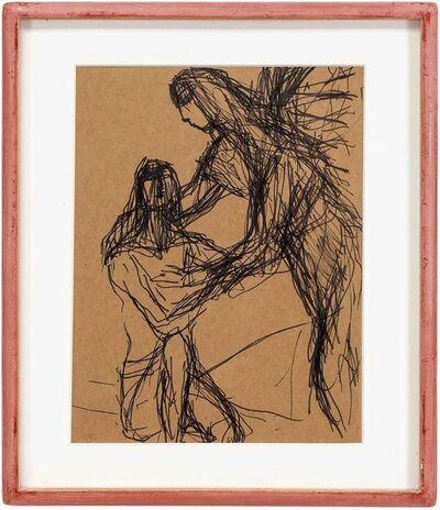 Sigmund Menkes, 'Expressionist Figure Study', Mid-20th Century