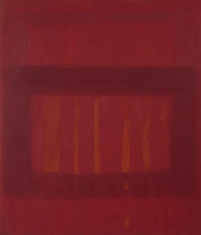 Perle Fine, 'Cool Series #48, Striated Red', ca. 1961-1963