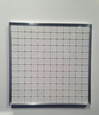 Rachel Lachowicz, 'Untitled (Corollary Score)', 2012