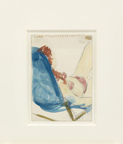 Blinky Palermo, 'Untitled (women lying on a deckchair)', 1965