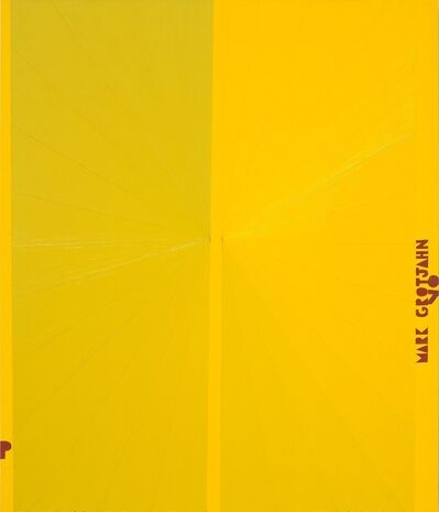 Mark Grotjahn, 'Untitled (Yellow Butterfly I Red P MARK GROTJAHN 07 781)', 2007