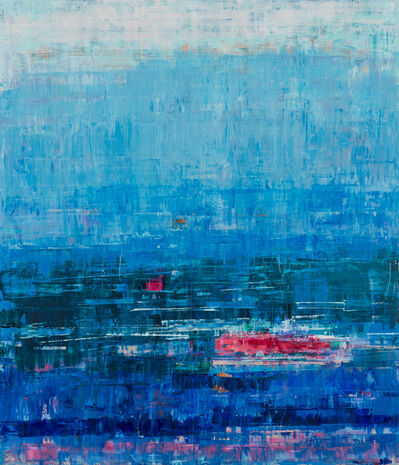Suzy Barnard, 'Deep Blue & Raspberry Red', 2019