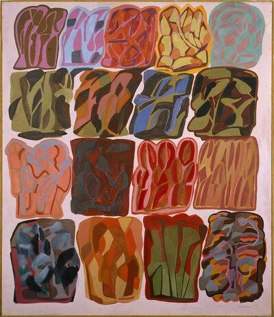 Pietro Consagra, 'Fondo rosa chiaro (Diciassette immagini)', 1983