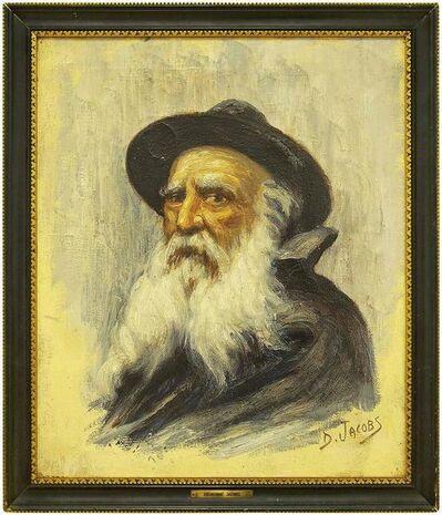 Dieudonne Jacobs, 'Portrait of a Rabbi, Belgian Impressionist Painting', Early 20th Century