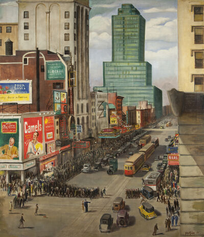 Edmund Yaghjian, '42 Street West of Broadway', 1934