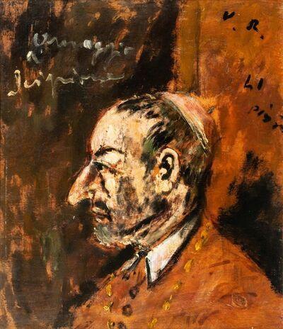 Filippo De Pisis, 'Portrait of S. Carlo Borromeo - Hommage to Scipione', 1941
