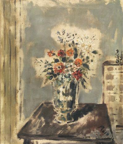 Filippo De Pisis, 'Vaso di fiori in un interno', 1945