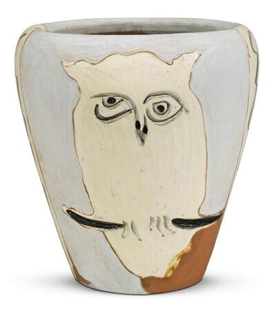 Pablo Picasso, 'Face and owl [Visage et hibou]', 1958