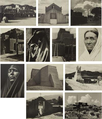 Ansel Adams, 'Taos Pueblo', 1930