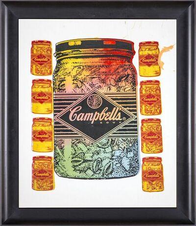 Steve Kaufman, 'Steve Kaufman  Campbells Soup Warhol Famous Assistant Pop Art Oil Painting', 1990-2010