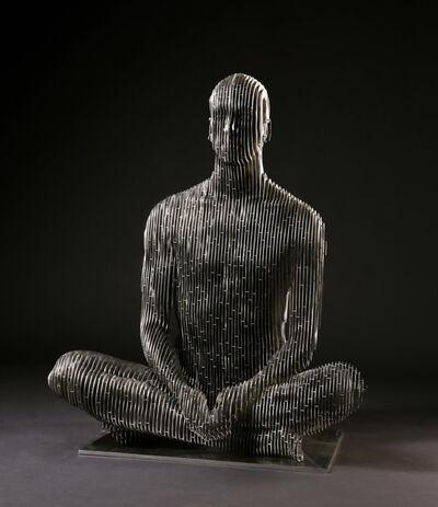 Julian Voss-Andreae, 'Sitting Man', 2019