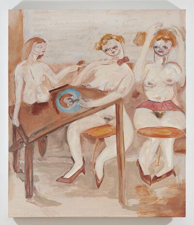 Jay Miriam, 'French Girls Sitting in a Polish Cafe', 2019