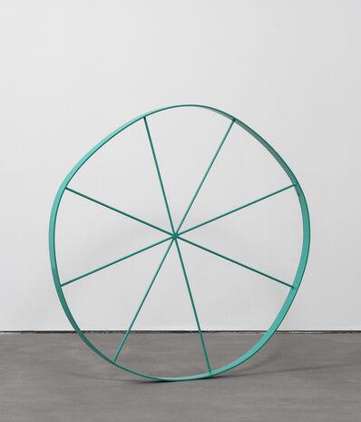 Gary Hume, 'Wonky Wheel (aqua)', 2018