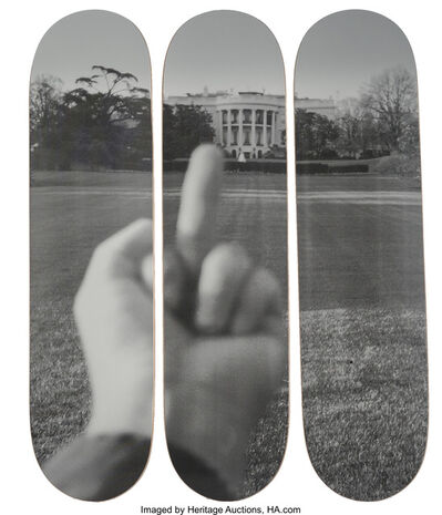 Ai Weiwei, 'The White House, from Fuck Off series, triptych', 2017