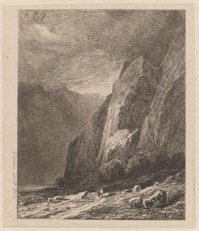 Alexandre Calame, 'Cliffs in a Storm', 1838