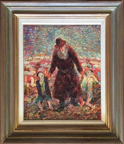 Marian Kratochwil, 'Old Jew Taking Children to School (the Refugee)', 20th Century