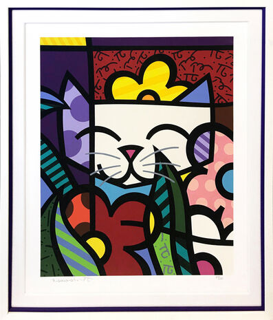 Romero Britto, 'BEHIND THE FLOWERS', UNKNOWN